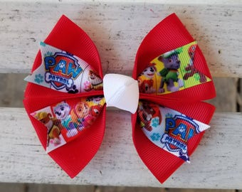 Paw Patrol Hair Bow (4 inch)
