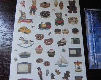 "1 sheet of stickers ""Toys"""