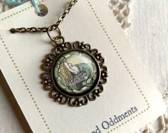 Victorian Mermaid Pendant Necklace