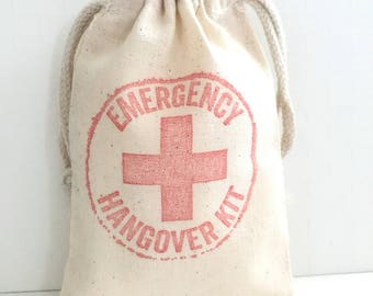 10 Emergency Hangover Kit Bags - Bachelorette Favor Bags - Survival Kit - Wedding Favor Bags - Bachelorette Hangover Kits - Emergency Kit -