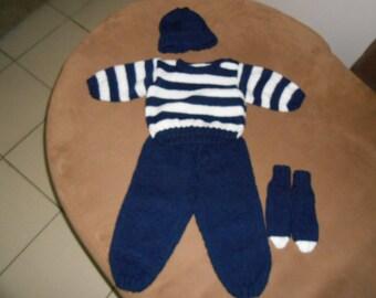 set baby boy 3 months in wool
