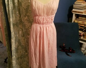 Vintage pink 1960s semi sheer negligee nightgown