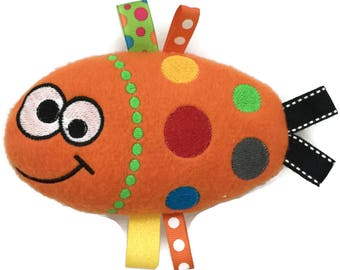 Stuffed Fish - Baby Stuffed Toy - Plush Stuffed Animal - Soft Stuffed Animal - Baby Chew Toy - Baby Gift