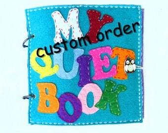 quiet book toddler busy book felt book sensory book preschool activity book gift for a baby