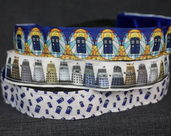 Dr. Who Inspired Non-slip Headband - Tardis, Dalek, Mini-Tardis