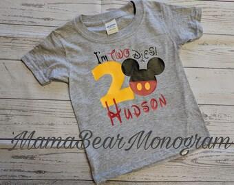 Im Twodles birthday shirt, twodles birthday shirt, Boy mickey twodles shirt, Mickey birthday shirt,