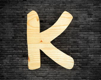 wood - K letters