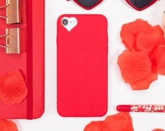 Red Heart iPhone 7 Case iPhone 6 Case iPhone 8 Case Phone 7 Plus Case iPhone 8 Plus Case iPhone Case iPhone 6s Case iPhone SE iPhone 5s Case