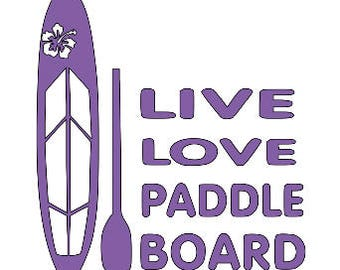 PADDLE BOARD PADDLEBOARD sup Vinyl Decal Sticker Free Shipping Yeti Window Car Laptop Wine Glass Coffee Beer Mug Frame Sports Bottle Sticker