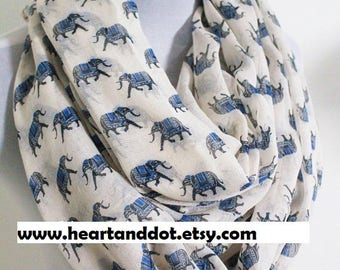 elephant scarf, elephant lover gifts, elephant gifts, animal print scarf, scarves for women