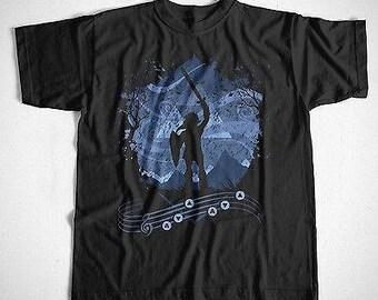 T-Shirt link wanted black legend of Zelda link game cult Gucco assault Hyrule TRIFORCE