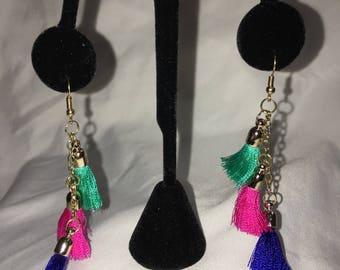 Colorful Tassle Earrings