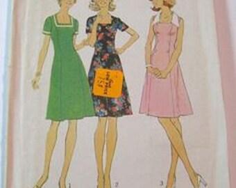 Vintage Simplicity 1975 Sz 22 1/2/24 1/2 Dress Pattern 7013.