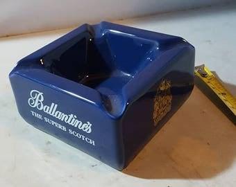 Wade pdm Ballantine's The superb Scotch blue  ashtray (pindish ? )