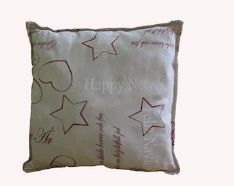 "Handmade cushion ""Happy new year"""
