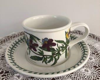 Portmeirion Botanic Garden Drum Coffee Cup And Saucer