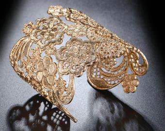 Beautiful Vintage Cuff Lace Bangles