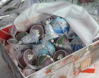 """Set of Christmas tree decorations """"Christmas miracle"""" - 12 pieces"""