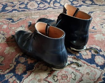 1950s authentic British Army dress George bootswith spurs.