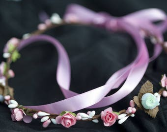 Flower headband tiara Crown