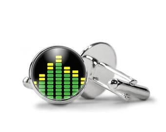 Music Equalizer Cufflinks PM-457