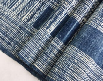 Special!!! Hmong hemp fabric,vintage  hemp hand dyed Hmong hill tribe -Bed runner ,Table runner from Thailand