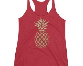 Gold Pineapple women's tank top