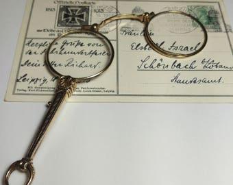 High Quality Art Nouveau Lorgnon, Lorgnette, Magnifier, Eyeglasses