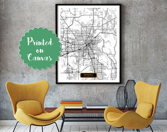 HUNTSVILLE Alabama City Map Huntsville Alabama Art Print Huntsville Alabama poster Huntsville Alabama map art United States of America Jack