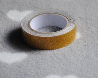 Washi tape, gold glitter tape