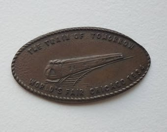 Elongated Cent from 1934 Chicago Worlds Fair