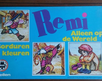 Colouring and embroidery set  Sans famille/ Alleen op de wereld  Hector Malot Remi