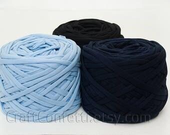 Thin T-shirt yarn / S yarn / 50 m (54.7 yards) / Fabric yarn 100% cotton yarn Coloured zpagetti yarn Bulky cotton yarn Craft material
