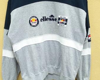 Vintage ELLESE Sweatshirt spell out multicolour / vintage ellese crewneck big logo / vintage ellese jumper embroidery