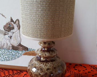 Vintage retro west german fat lava lamp & lamp shade