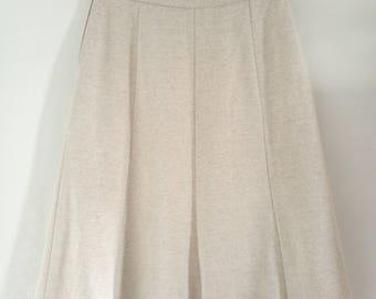 CLEARANCE SALE A-line midi skirt, light beige C 36