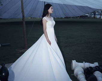 LS52/ Kelly/Mermaid wedding dress/silk wedding dress