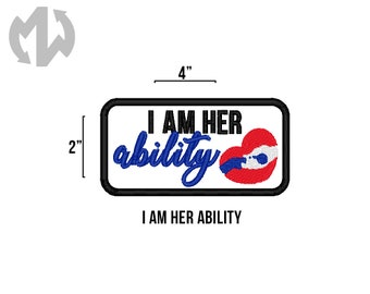 "HER ABILITY 2"" x 4"" Service Dog Patch"