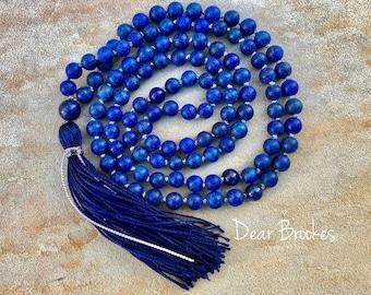 108 bead mala, mantra mala, mala, yoga necklace, meditation mala, boho necklace