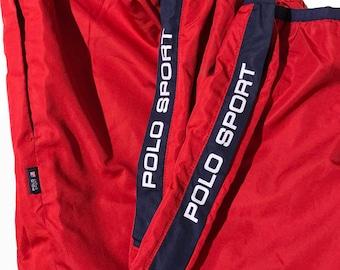 Vintage 90s Polo Sport  Windbreaker Warm-Up Track Pants  Size S