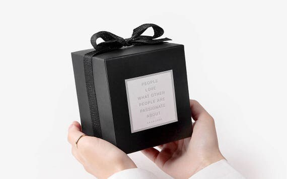 4 small black gift boxes black box black favor box small for Black box container studios