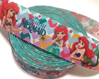 "1.5"" Little Mermaid Ribbon, Ariel Ribbon, Princess Ariel Ribbon, Little Mermaid Grosgrain Ribbon, The Little Mermaid Party Ribbon"