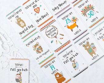 Tribal Pregnancy Milestone Cards