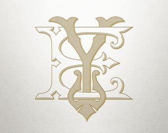 Wedding Monogram Design - EY YE - Wedding Monogram - Digital