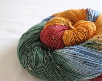 The Great Pumpkin - House Wren - 85/15 superwash merino/ nylon tweed sock yarn