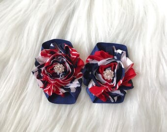 READY TO SHIP 4th of July Barefoot Sandal, Baby Barefoot Sandal, Baby Shoe, Baby Sandal, Newborn Shoe, Patriotic Sandal, Fourth of July Baby