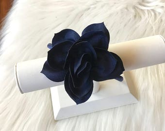 Navy Blue Hard Headband, Navy Blue Headband, Navy Headband, Plastic Headband, Girl Headband, Toddler Headband, Girl Hair Bow, Headband, Girl