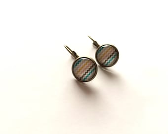 Earrings Zig Zag multicolor - Bronze