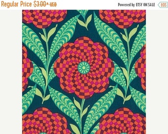 Sale Zebra Bloom in Ink from the Eternal Sunshine Collection by Amy Butler - Cotton Quilting Fabric