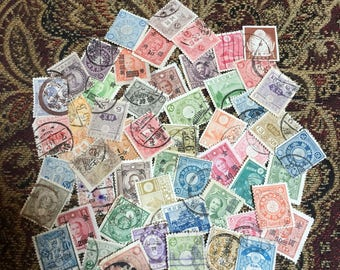 55 Old Japanese Stamps